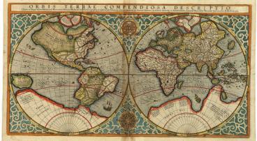Карта мира с неизвестными землями